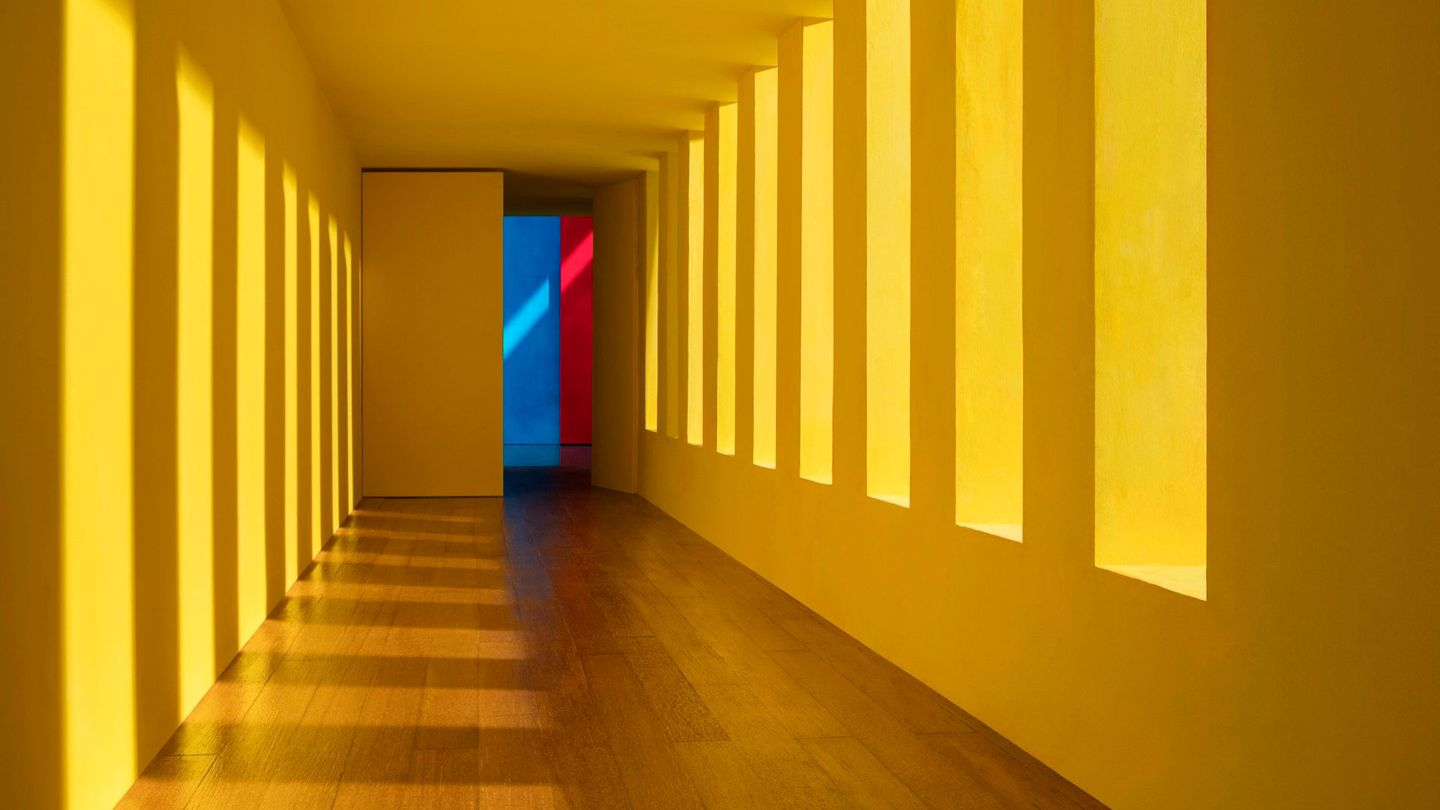 Karl Lagerfeld's choice: Yellow Passage by James Casabere, 2017. Visitors to Paris Photo 2017 can follow a trail through the exhibition hall of images selected by Karl Lagerfeld