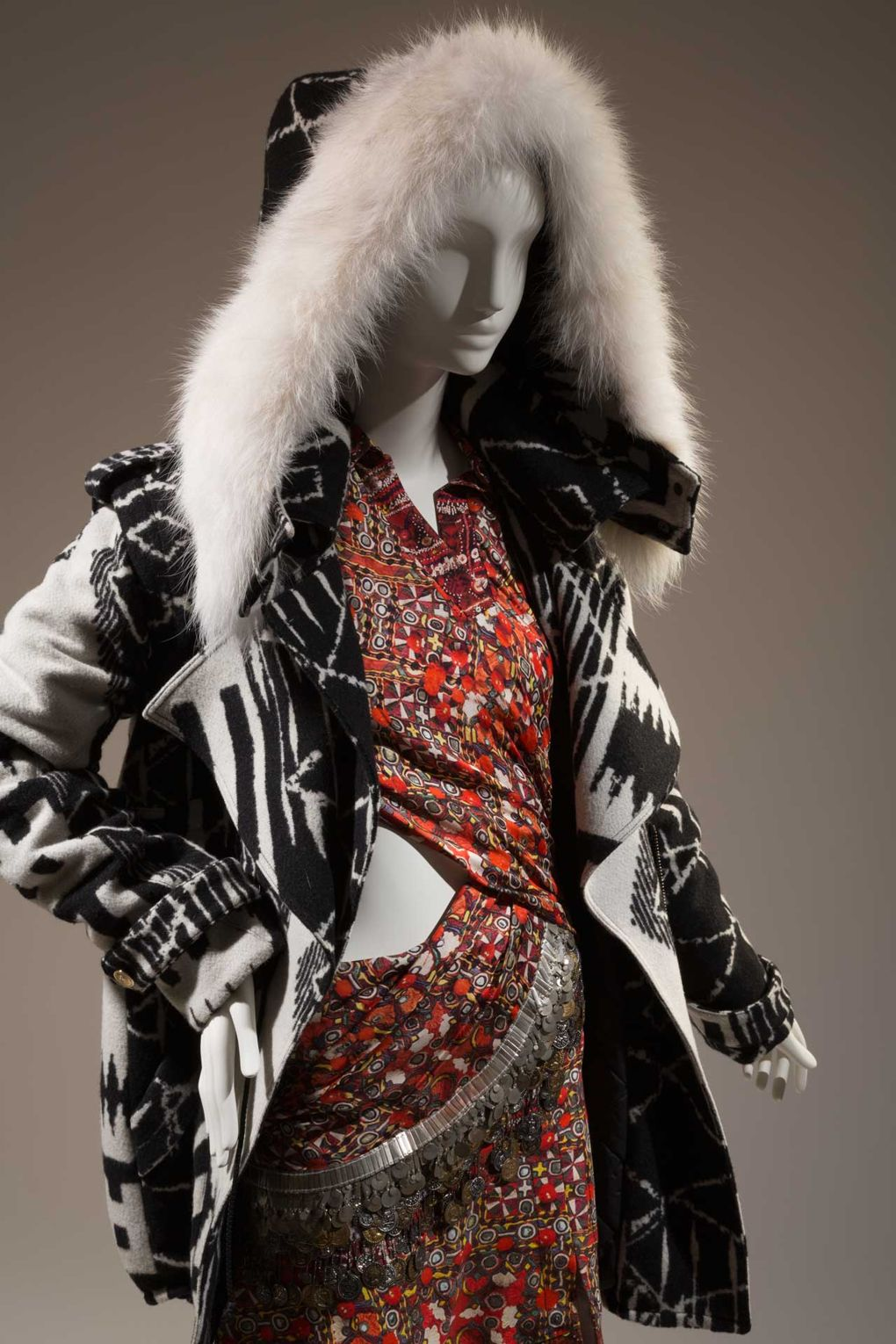 A Joseph Altuzarra parka and dress, Autumn/Winter 2012. Lent by Altuzarra