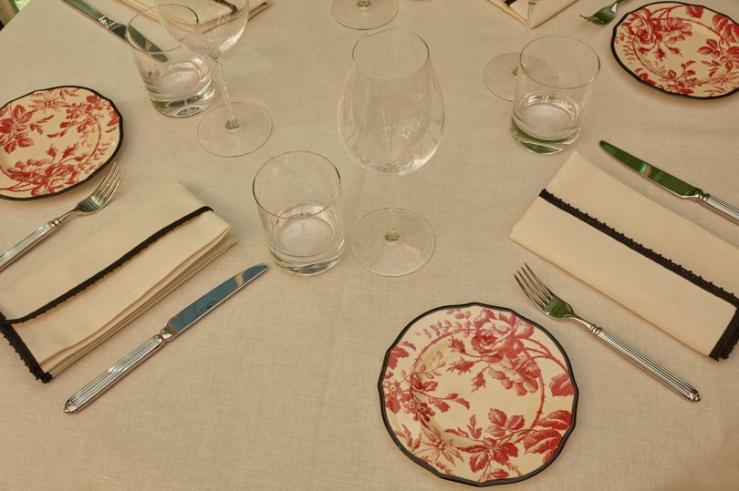 Table setting at the Gucci Osteria da Massimo Bottura