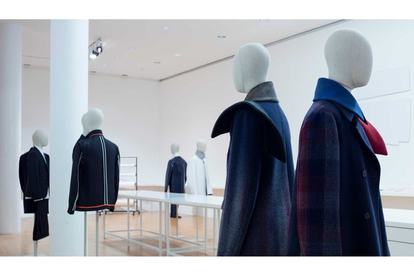 "A men's and women's installation at ""Jil Sander. Present Tense"" in Frankfurt"