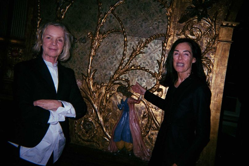 Jil Sander with her friend, the late Dickie Mommsen