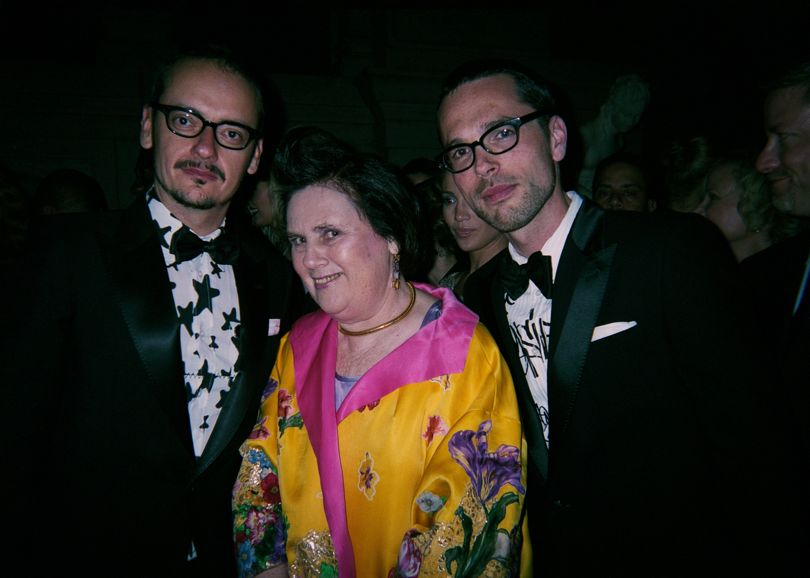 Suzy with Viktor Horsting and Rolf Snoeren at the 2007 New York Costume Institute Gala