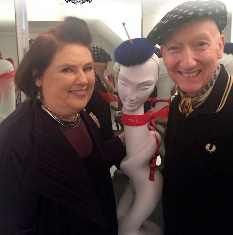 Suzy Menkes and Stephen Jones