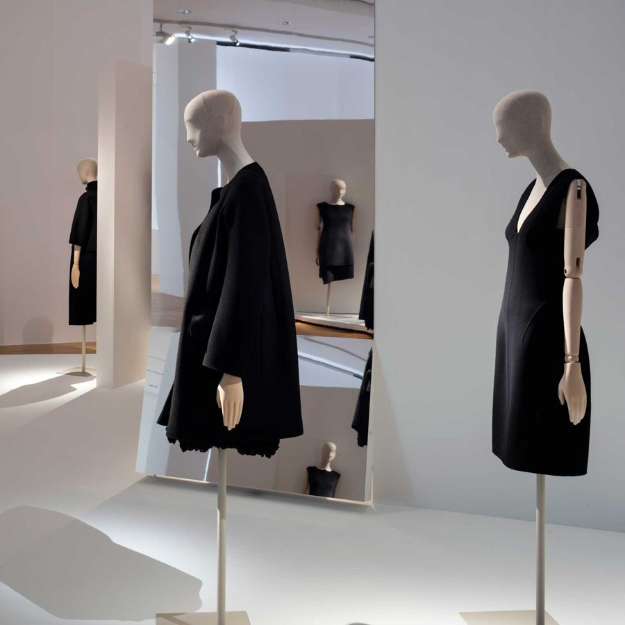 Recreations of classic Jil Sander designs at the designer's retrospective in Frankfurt