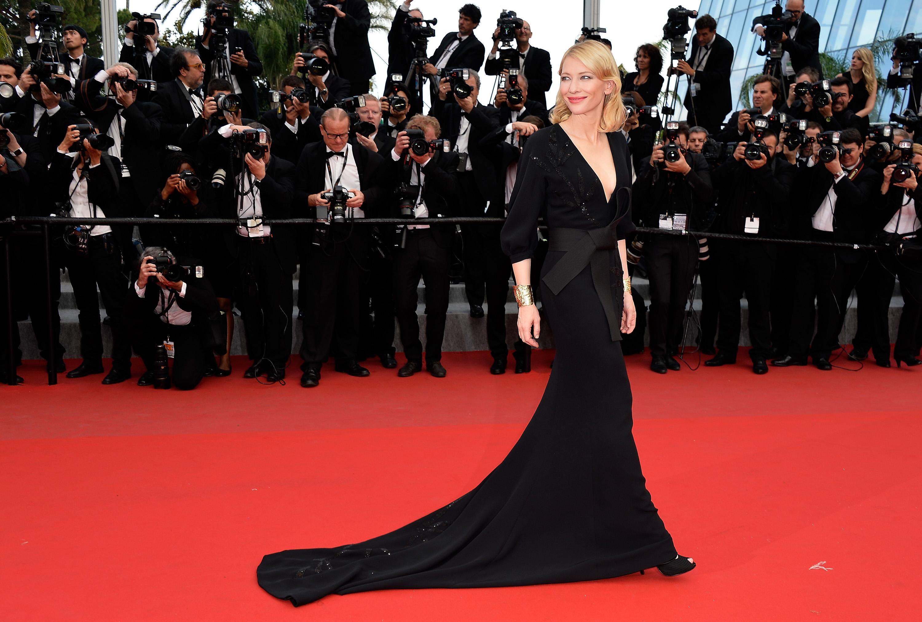 Cate Blanchett em Armani, Festival de Cinema de Cannes 2017 © Getty Images