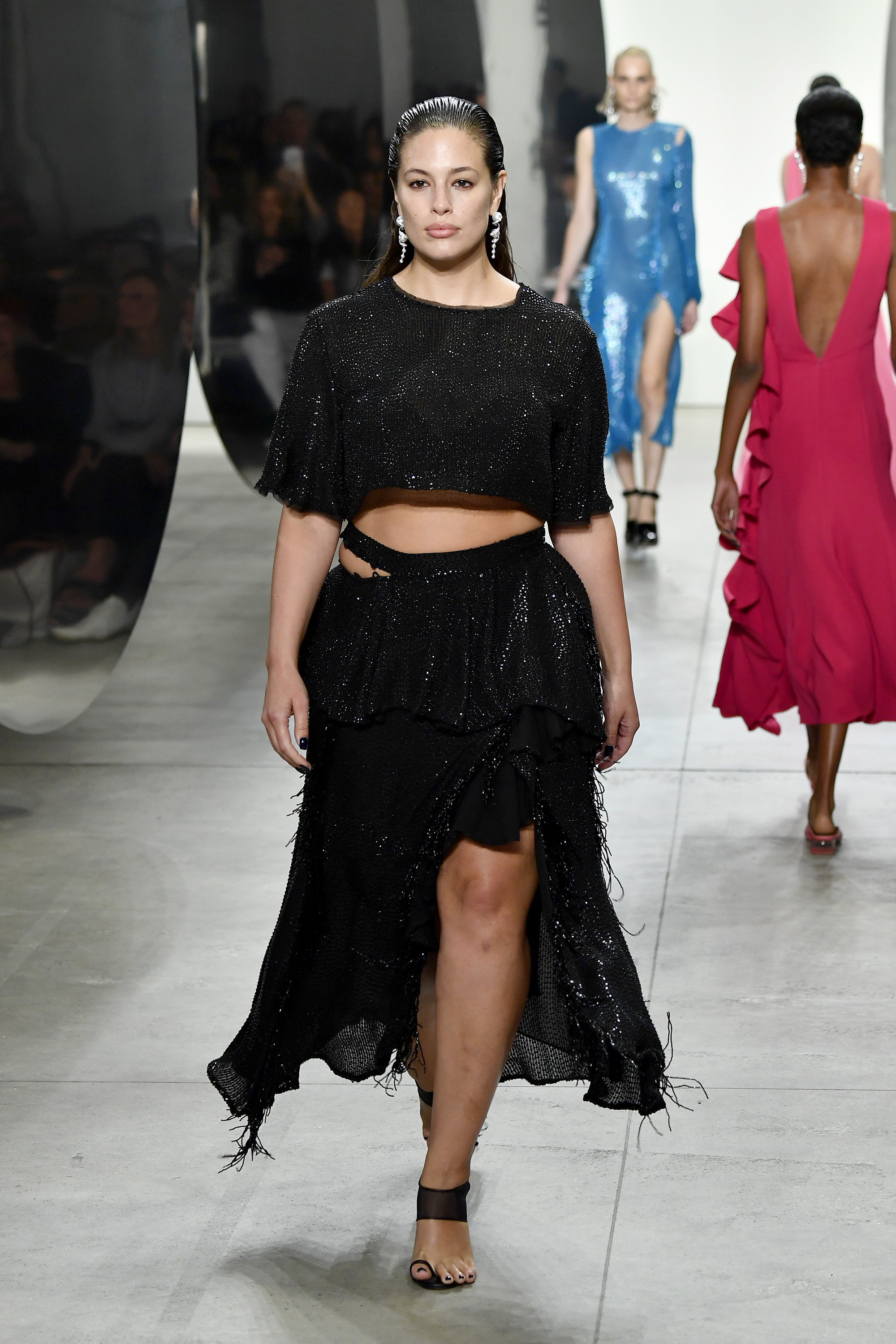 Ashley Graham, Prabal Gurung primavera-verão 2018 © Getty Images