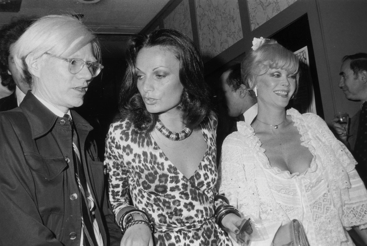 Andy Warhol e Diane von Fürstenberg ©Tim Boxer/Getty Images