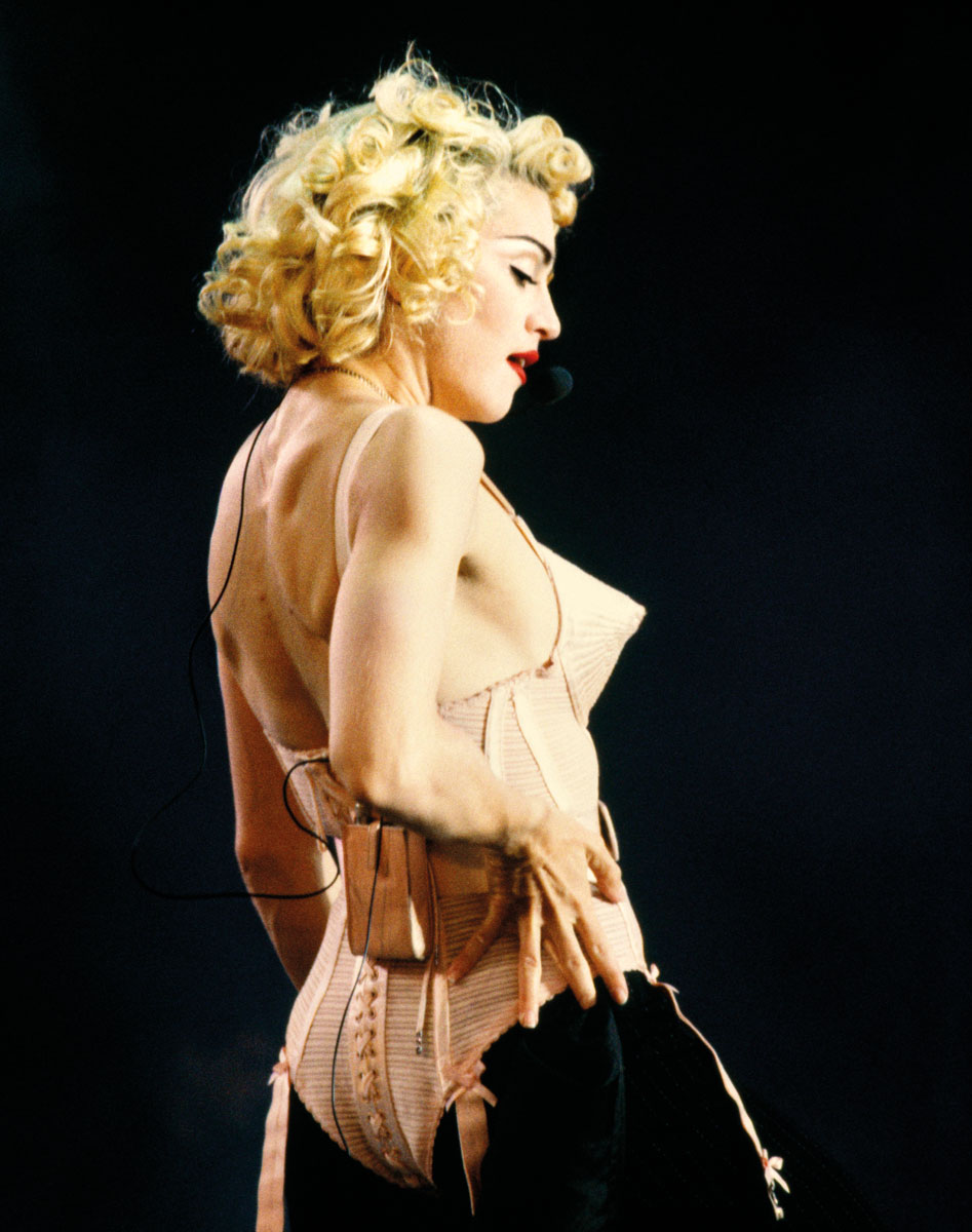 Madonna em Jean Paul Gaultier, 1990 ©Michel Linssen/Getty Images