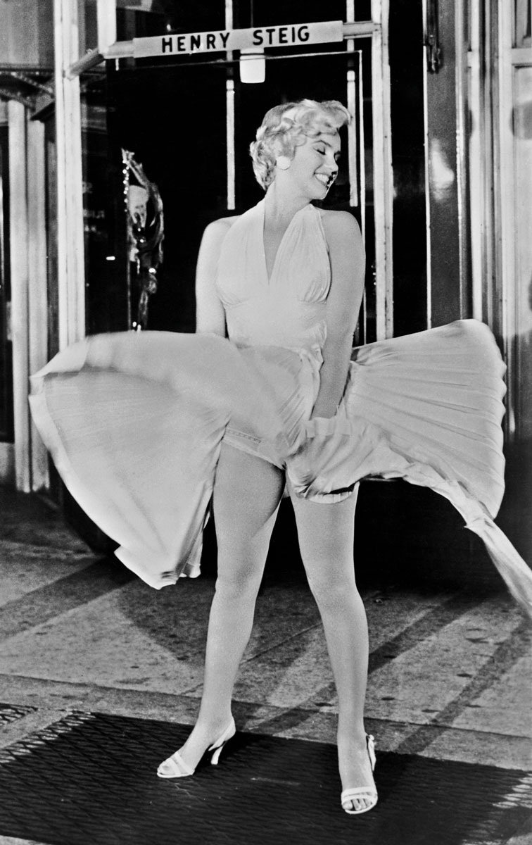 Marilyn Monroe em The Seven Year Itch, 1955 ©Bettmann/Getty Images