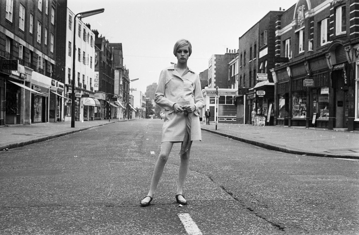 Twiggy em King's Road, Londres, 1966 ©Stan Meagher/Express/Getty Images