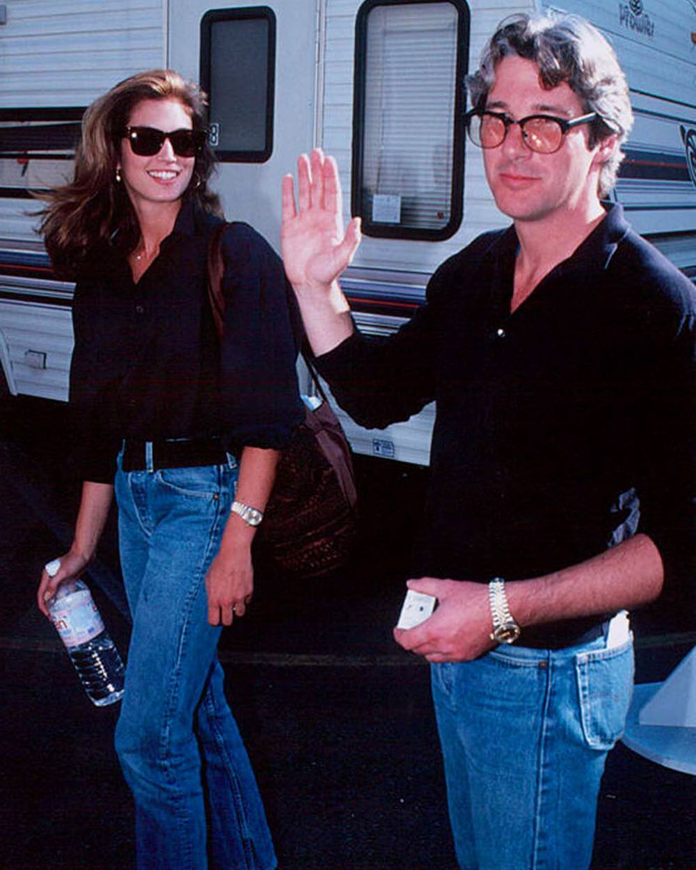 Cindy Crawford e Richard Gere em 1991 © Instagram 90sanxiety