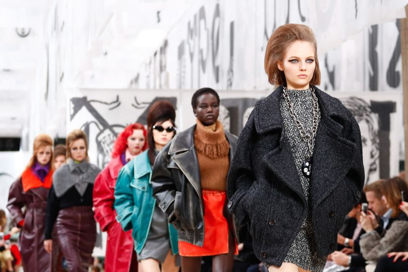 4c7d05520 Or just another attempt by Miuccia Prada to produce a zany fashion vibe?  Miu Miu Autumn/Winter ...