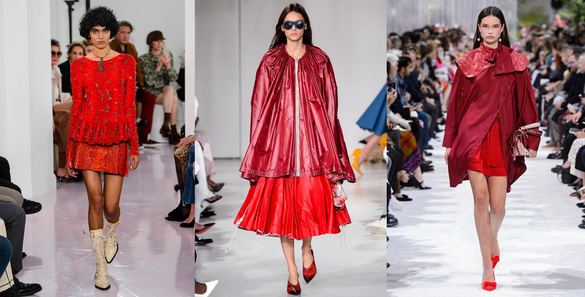 Chloé, Calvin Klein, Valentino | primavera/verão 2018 ©Imaxtree